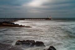 Amble breakwater, Northumberland (Twenty-21) Tags: sony a7ii zeiss 2470 f4 seascape amble northumberland england long exposure formatt hitech firecrest filters sea choppy rough lighthouse breakwater harbour north 5 stop