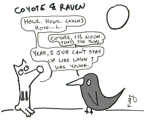 366 Cartoons - 143 - Coyote and Raven