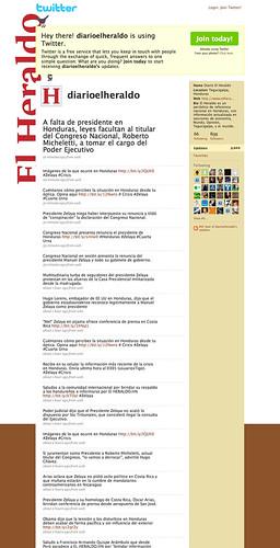 Honduras: El Heraldo Twitter