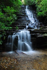 Panther Falls (davidwilliamreed) Tags: county trees nature water creek georgia landscape rocks branch joe falls panther rabun