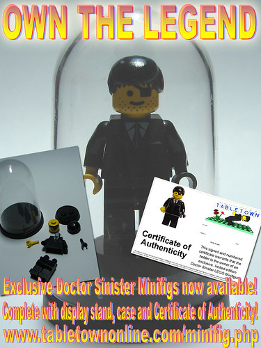 Buy your own Doctor Sinister custom minifig