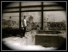 **THAT KID RICH** (Rich Zoeller Photography) Tags: nyc urban plant ny abandoned beauty metal canon river concrete graffiti interesting dangerous model power holes glenwood warehouse hudson fedora powerplant exploration sick yonkers beams pimpin ubex conedison tkr thatkidrich tkrphotography richzoeller
