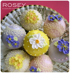 Mini Mini Flower Cupcakes 1 (rosey sugar) Tags: flowers party cake decoration mini celebration cupcake icing piping brithday petit miniture sugarcraft