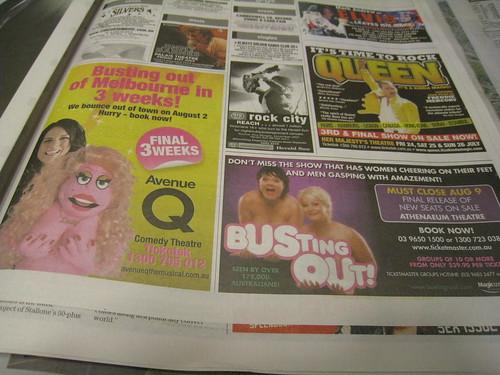Herald Sun Avenue Q Ad