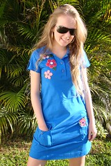 Vestido Azul (nanaquel.artesanato) Tags: moda artesanal feltro santacatarina tecido roupas bordado renda aplicação aplicações nanaquel