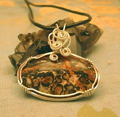 Leopard Jasper Pendant (ArtTess) Tags: necklace jewelry pendant wirework wirewrapped leopardjasper arttess