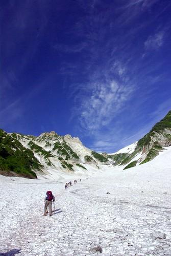 白馬大雪渓-まだまだこれから