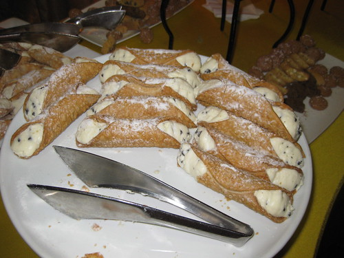 At the surprisingly good meals, you could take the Cannoli. (I left it.)