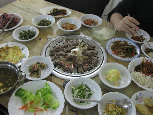 a wealth of Korean food. Flores