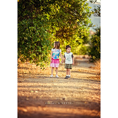 Hansel & Gretel (isayx3) Tags: light portrait orange colors fairytale lost nikon dof natural princess grove bokeh vibrant explore story nikkor storybook frontpage f28 d3 hansel gretel 80200mm 70200mm plainjoe hanselgretal isayx3