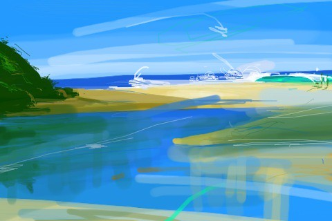 Early morning painting lake cathie, just back# iPhone art