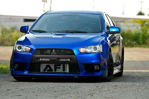 Mitsubishi Evolution X Blue. Kenny#39;s Blue EVO X