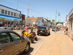 Water Street, Digby, Nova Scotia (JHikka) Tags: street people cars water nova car buildings day days scotia scallop digby