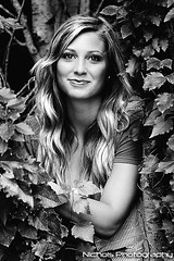 Cortney BW (Christopher Nichols) Tags: trees girls portrait woman tree girl beautiful beauty smile leaves female forest portraits model women modeling blondes models blonde smirk females