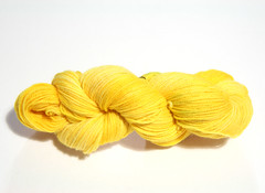 Superwash merino 4 ply dyed with Pina Pineapple