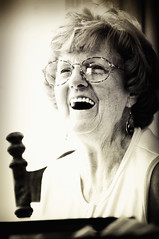 Nanny (Andy Obscene) Tags: family grandma classic window smile rock glasses blackwhite chair nikon grandmother iso400 nanny naturallight overexposed laughter wisdom blackwhitephotos nikkor70200mmvr nikond300