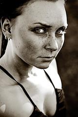 (Julia Eriksson) Tags: portrait face sepia intense freckles johanna