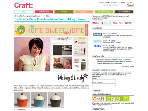 featured on Craft: