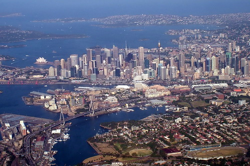Sydney skyline from above