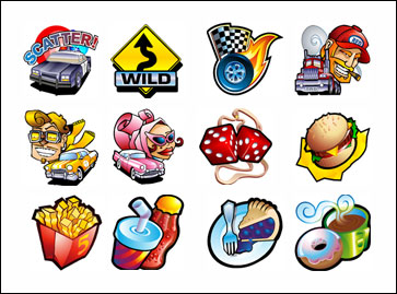 free 5 Reel Drive slot game symbols