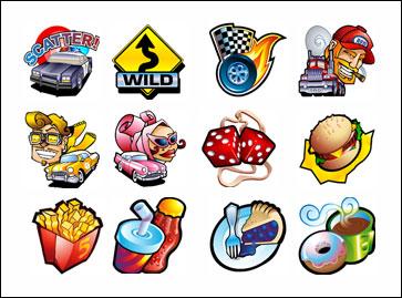 free 5 Reel Drive slot game symbols