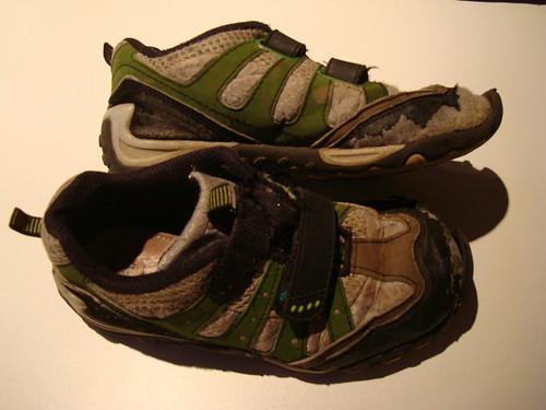 Utslitna skor