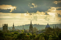 UK - Oxford - South Park - Skyline v2 (Darrell Godliman) Tags: park city uk greatbritain travel sunset england copyright travelling tourism skyline nikon europe day view britishisles cloudy unitedkingdom britain towers southpark oxford gb vista d200 viewpoint oxforduniversity oxfordshire allrightsreserved oxon headington dreamingspires universityofoxford travelphotography thamesvalley nikond200 headingtonhill instantfave oxfordskyline omot travelphotographer flickrelite dgphotos darrellgodliman wwwdgphotoscouk dgodliman ukoxfordsouthparkskylinev2