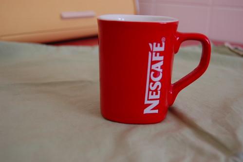 Caneca de porcelana brinde Nescafé