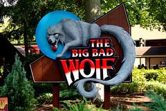 big bad wolf sign (LVnative) Tags: geotagged williamsburg bigbadwolf buschgardens lvnative