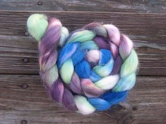 Plumberry on Alpaca Roving