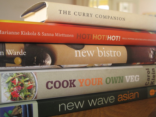 Cookbooks I bought