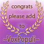 The ~VoxPopuli~ Bronze Award