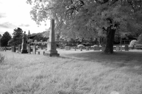B&W IR Graveyard