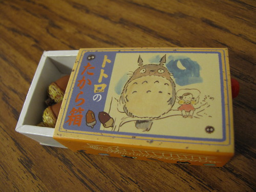 Totoro music box with acorns.