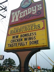 wendys 2009-08-28 15.22.45 (Sinister Dexter) Tags: sign funny wendys