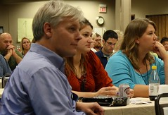 Rep. Thissen listens to Bruce (ARRM) Tags: paul rep thissen