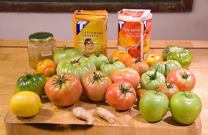 tomatenconfituur is confituur van tomaten