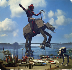 Imperial Rodeo! (Invading The Vintage - Franco Brambilla) Tags: art illustration vintage starwars arte stormtroopers retro future scifi rodeo atat ultraman guerrestellari illustrazione vintagepostcards imperialwalker dartvader