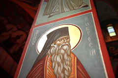 Russian Orthodox Cathedral Column (Mr. T in DC) Tags: washingtondc dc interiors religion paintings columns saints churches cathedrals dcist pillars crestwood saintjohnthebaptist russianorthodox stambrose stjohnthebaptist russianorthodoxcathedral saintambrose saintambroseofmilan stambroseofmilan