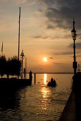 Good Bye (Q-BEE) Tags: sunset sun water lago see garda wasser sonnenuntergang sonne lagodigarda gardasee superaplus aplusphoto
