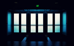 Exit (isayx3) Tags: light nikon exposure doors glow entrance 24mm exit nikkor f28 entry d3 plainjoe isayx3
