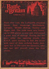 Card 17 (Rear) (Pat Linsley) Tags: bubblegum battleofbritain