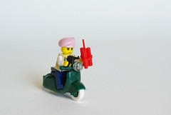 French Partisan (Dunechaser) Tags: vespa lego wwii worldwarii ww2 motorcycle normandy dday brickarms brickforge