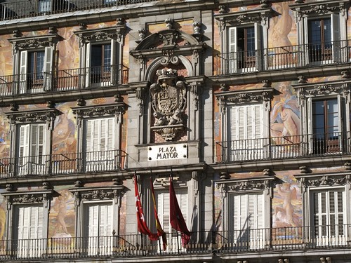 Painted facade of the Casa de la Panderia, Plaza Mayor, Madrid