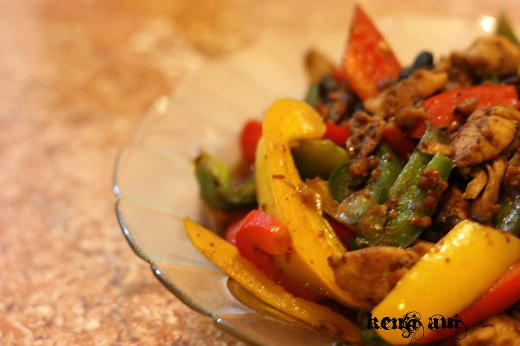雜椒豆瓣炒雞塊
