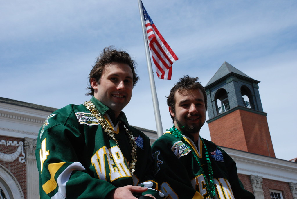 University of Vermont men's hockey and women's basketball teams honored for reaching NCAA Tournaments, Church Street Marketplace, Saturday, May 2, 2009.