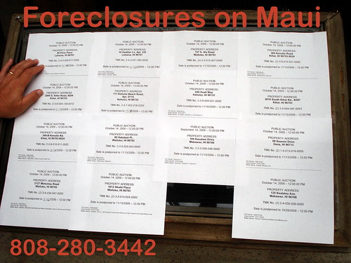 Foreclosures on Maui are rising