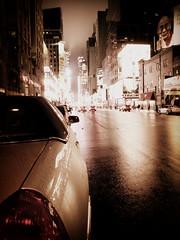 DSCN7505 (stefo) Tags: road street nyc newyorkcity urban usa ny newyork wet car rain night america movie lights unitedstates manhattan rainy avenue dalailama midtownd