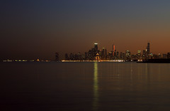 Chicago by night (**** j a z z z i ***) Tags: blue sunset chicago by night just hour after
