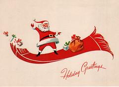 Vintage Postcard (steely*elf) Tags: santa christmas vintage postcard